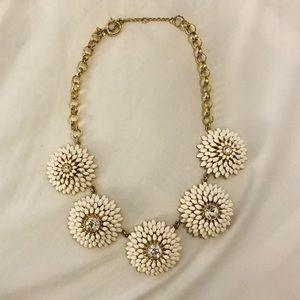 Flower burst statement necklace